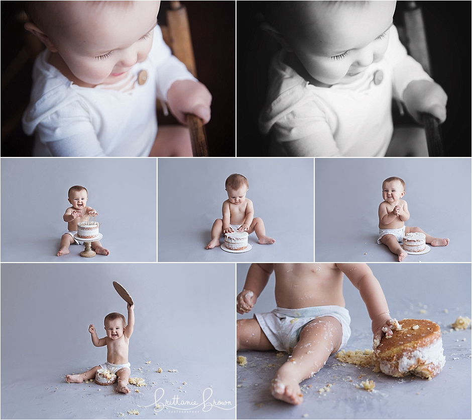 Cake Smash One Year Session Baby Boy Lexington, KY