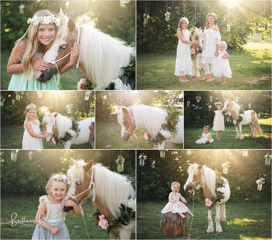 Unicorn Mini Pony Sessions Pictures in Georgetown, KY June 2018
