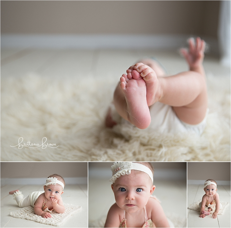 6 month baby pictures, Sloan