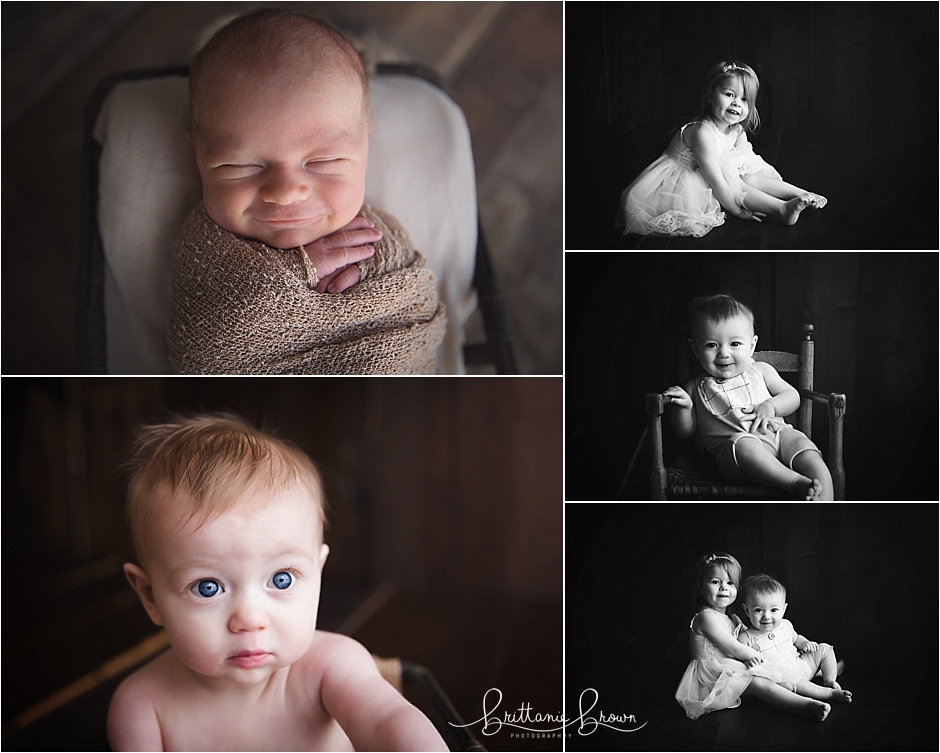Newborn and 6 Month Pictures