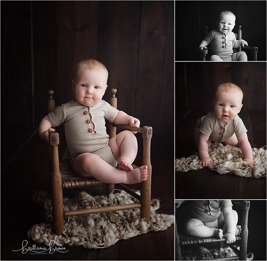 6 Month pictures baby photographer in Lexington, KY